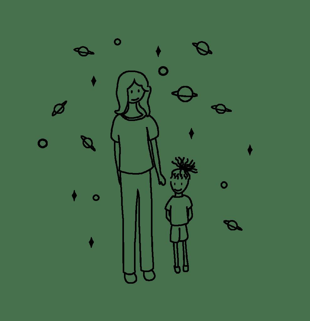 Nannie et enfant Planètes Ma Nannie +