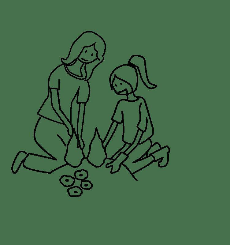 Enfant et Nannie poterie Ma Nannie +